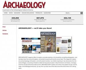 Archaeology Magazine - Advertising
